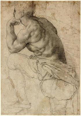 Alessandro Allori, A Pearl Diver, Italian Print by Litz Collection