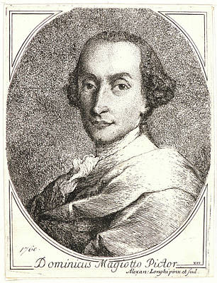 Alessandro Longhi Italian, 1733 - 1813. Portrait Print by Litz Collection
