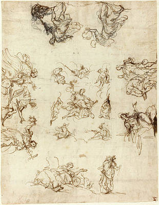 Alessandro Maganza, Italian 1556-1640, A Compartmented Print by Litz Collection