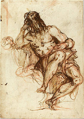 Alessandro Maganza, Italian 1556-1640, Saint Jerome Print by Litz Collection