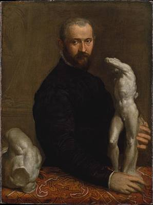Paolo Caliari Veronese Painting - Alessandro Vittoria 152425-1608 by Paolo Veronese