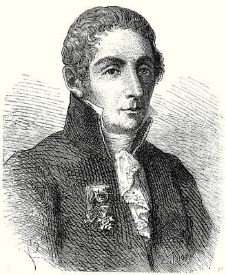 Alessandro Volta Print by English School