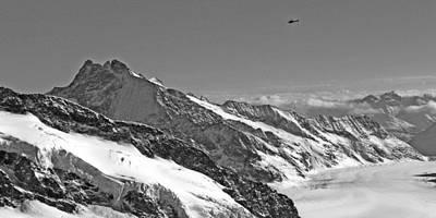 Jungfraujoch Photograph - Aletsch Glacier At Jungfraujoch by Karen Anderson