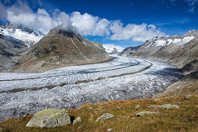 Photograph - Aletsch Glacier Switzerland Swiss Alps by Matthias Hauser