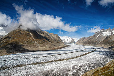 Photograph - Aletsch Glacier Valais Switzerland Europe by Matthias Hauser
