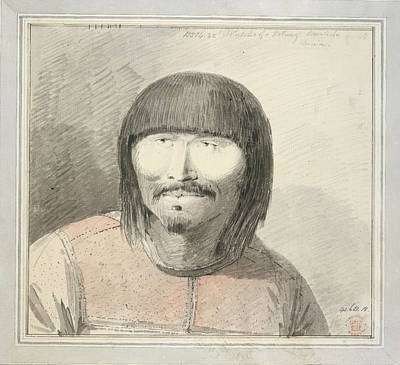Aleut Man Of Unalaska Island Art Print by British Library