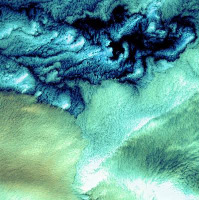 Photograph - Aleutian Clouds by USGS Landsat