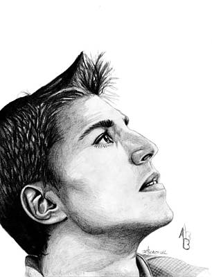 Vancouver Canucks Drawing - Alex Burrows by Kayleigh Semeniuk