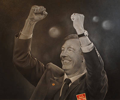 Painting - Alex Ferguson by David Dunne