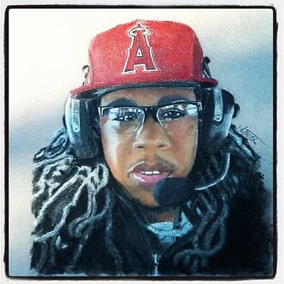 Baseball Pastel Painting - Alex by Lynette Berry