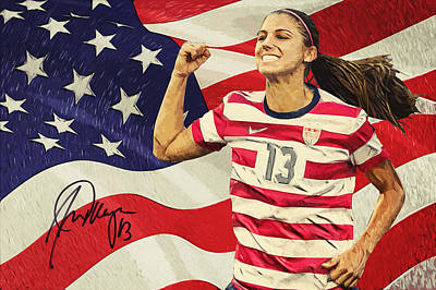 Alex Morgan Print by Taylan Apukovska