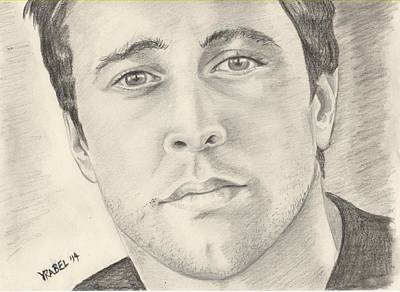 Five-o Painting - Alex O'loughlin by Patti Vrabel