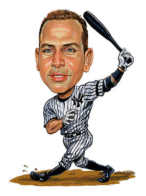 Baseball Royalty-Free and Rights-Managed Images - Alex Rodriguez by Art