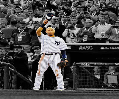 Gold Glove Digital Art - Alex Rodriguez by Brian Reaves