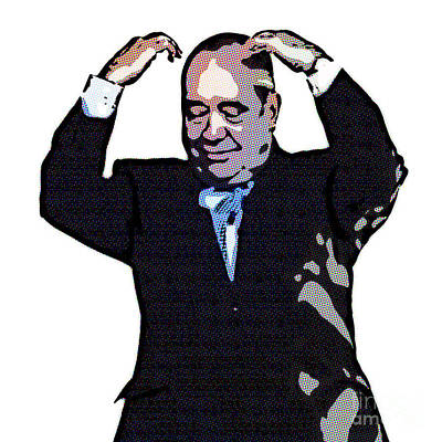 Digital Art - Alex Salmond Does The Mobot by Liz Leyden