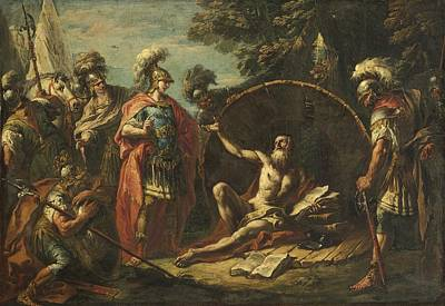 Diogenes Painting - Alexander And Diogenes by Celestial Images