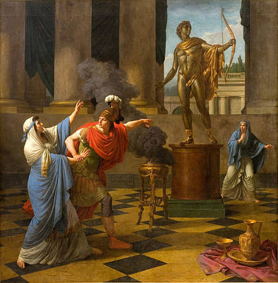 Oracle Painting - Alexander Consulting The Oracle Of Apollo by Louis-Jean-Francois Lagrenee