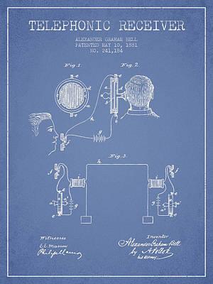 Alexander Graham Bell Telephonic Receiver Patent From 1881- Ligh Art Print