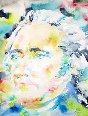 Character Portraits Painting - Alexander Hamilton - Watercolor Portrait by Fabrizio Cassetta