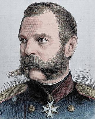Engraving Photograph - Alexander II (1818-1881 by Prisma Archivo