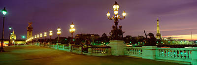Sculptural Photograph - Alexander IIi Bridge, Paris, France by Panoramic Images