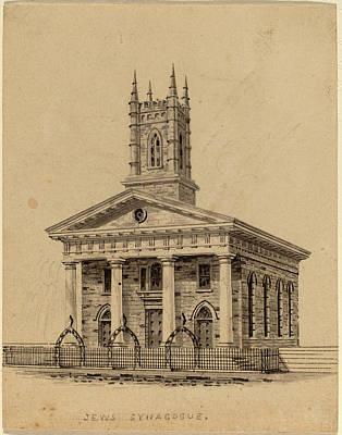 Synagogue Drawing - Alexander Jackson Davis, Jewish Synagogue by Quint Lox
