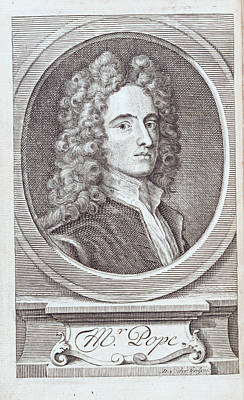 Clergy Photograph - Alexander Pope by British Library