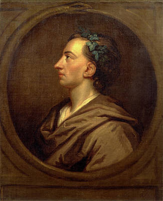 Kneller Painting - Alexander Pope Profile, Crowned With Ivy by Litz Collection