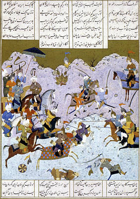 Persian Miniature Painting - Alexander The Great In Battle by Granger