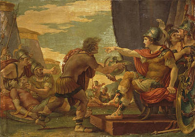 Refuse Painting - Alexander The Great Refuses To Take Water by Giuseppe Cades