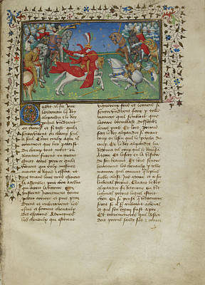 Alexander The Great Photograph - Alexander Unhorses Porrus by British Library