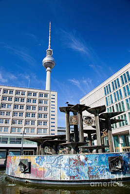 Photograph - Alexanderplatz View On Television Tower Berlin Germany by Michal Bednarek