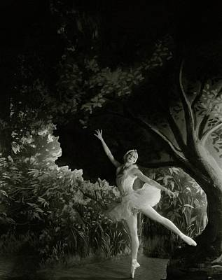 Alexandra Danilova In Swan Lake Art Print by Cecil Beaton