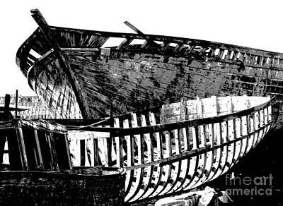 Photograph - Alexandria Egypt - Boat Construction by Jacqueline M Lewis
