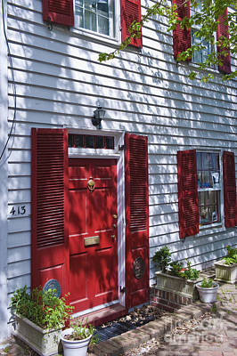 Photograph - Alexandria Virginia Classic Red Door by David Zanzinger