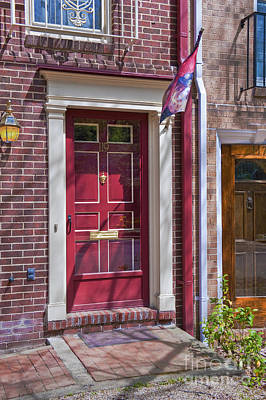 Photograph - Alexandria Virginia Red Door by David Zanzinger