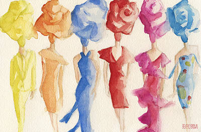 Woman Painting - Alexis Mabille Couture - Fashion Illustration Art Print by Beverly Brown
