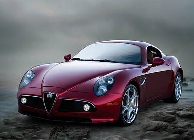 Luxury Digital Art - Alfa 8c by Douglas Pittman