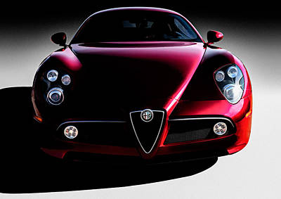 Digital Art - Alfa Romeo 8c by Douglas Pittman