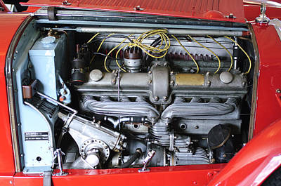 Photograph - Alfa Romeo Engine by Jill Reger