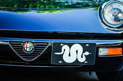 Photograph - Alfa Romeo Grille Emblem -0287c by Jill Reger