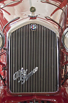 Photograph - Alfa Romeo Grille Emblem 2 by Jill Reger