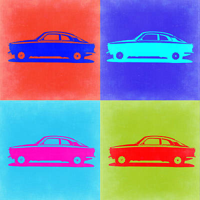 European Cars Mixed Media - Alfa Romeo Gtv Pop Art 2 by Naxart Studio