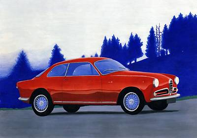 Painting - Alfa Romeo Guilietta by Milan Surkala