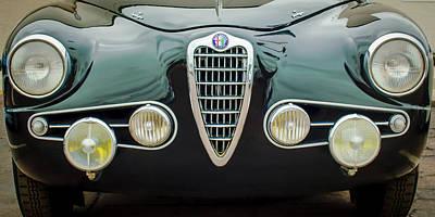Old Milano Photograph - Alfa Romeo Milano Grille -0016c by Jill Reger