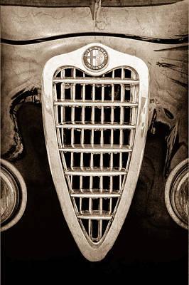 Old Milano Photograph - Alfa Romeo Milano Grille Emblem by Jill Reger