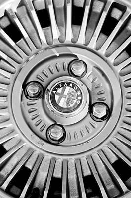 Photograph - Alfa Romeo Wheel Rim Emblem by Jill Reger