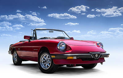 Europe Digital Art - Alfa Spider by Douglas Pittman