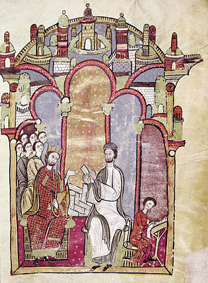 Scribe Painting - Alfonso II (1157-1196) by Granger