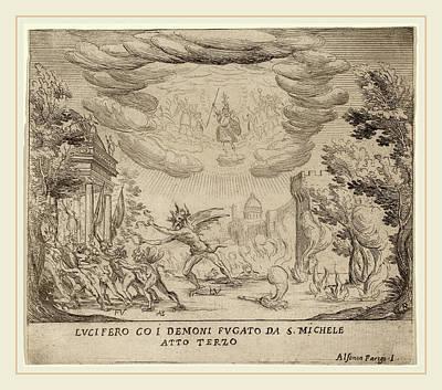 Alfonso Parigi II Italian, 1606-1656, Lucifer And Demons Art Print by Litz Collection